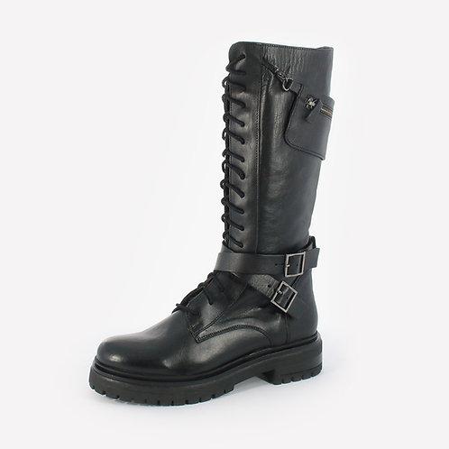 AB - Stivali in pelle con fibbie
