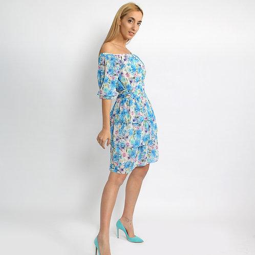 DADA - Vestito floreale a balze