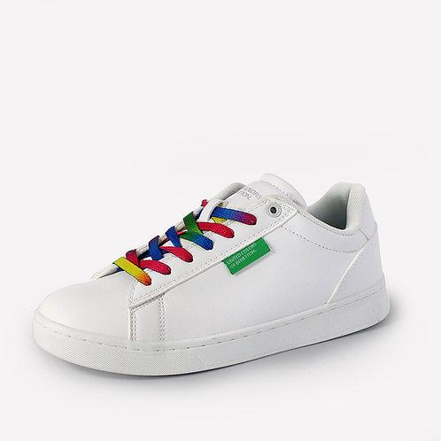Benetton - Sneakers con lacci colorati