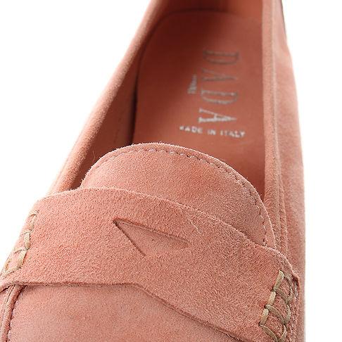 mocassini in vera pelle rosa
