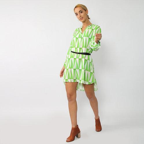 DADA - Maxi camicia con cintura