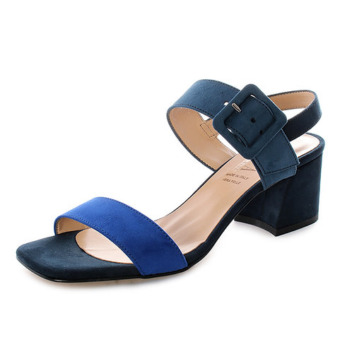 DADA - Sandali con tacco comodo - Marrone, Blu