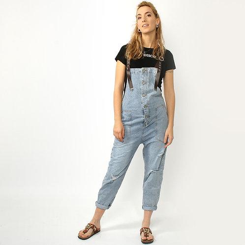 DADA - Salopette in jeans con bretelle regolabili