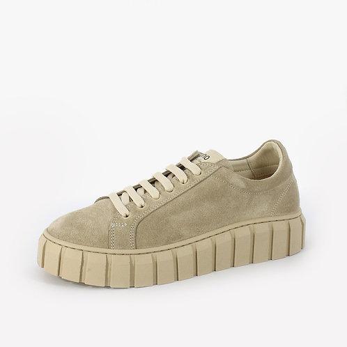 Bueno - Sneakers in pelle - Grigio, Marrone