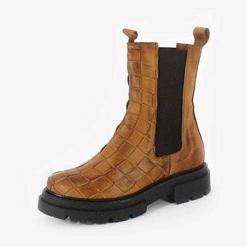 DADA - Stivali con stampa intrecciata - Nero, Marrone