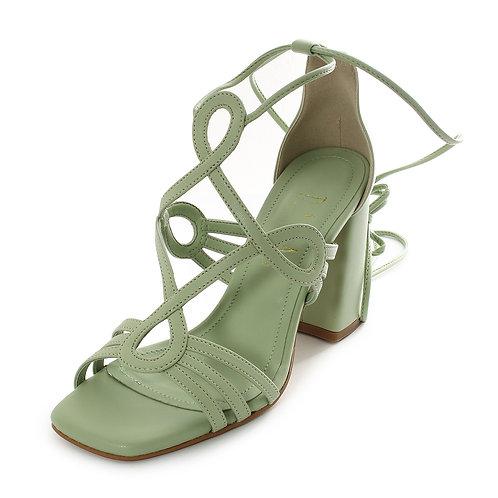 DADA - Sandali con laccio intrcciato - Nero, Beige, Verde