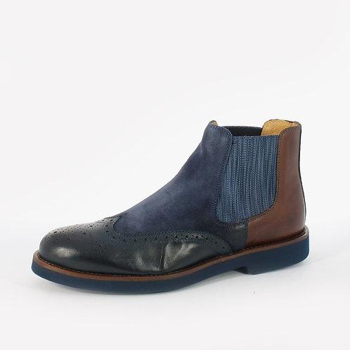 DADA - Stivaletti slip on - Blu, Marrone