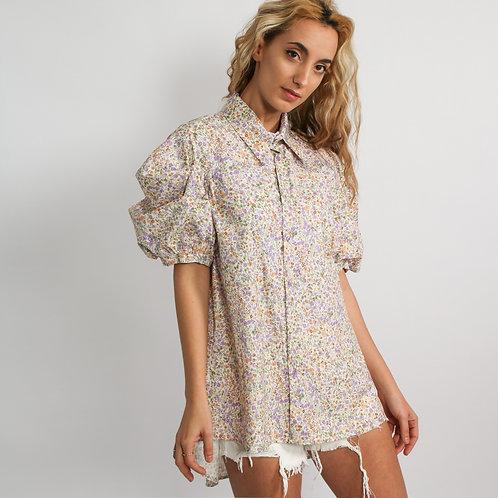 DADA - Camicia floreale con maniche a sbuffo