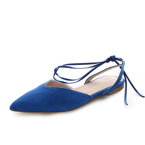 Vincenti - ballerine con laccio alla caviglia - Blu, Nero, Beige