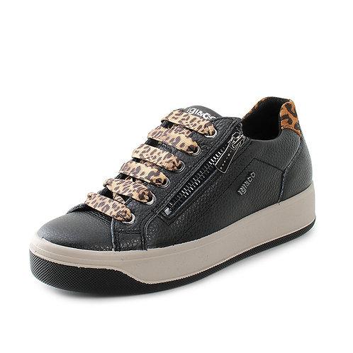IGI&CO - Sneakers in vera pelle con laccio maculato