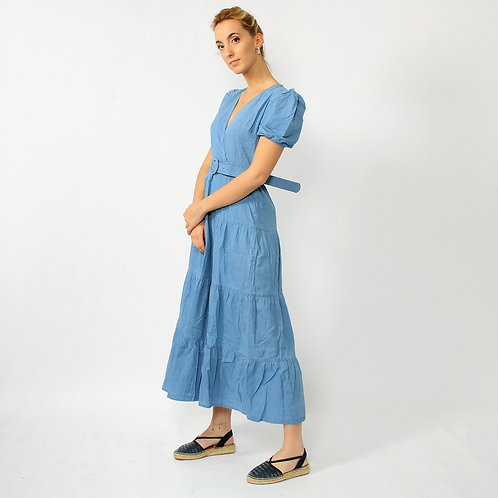 DADA - Vestito lungo in cotone effetto jeans