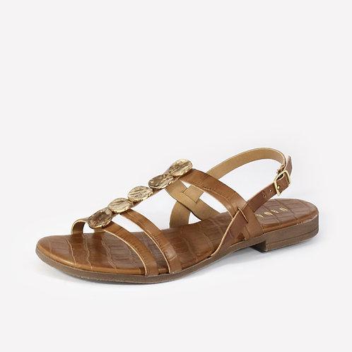 DADA - Sandali in pelle con stampa cocco