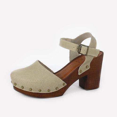 DADA - Sandali con zoccolo - Marrone, Beige