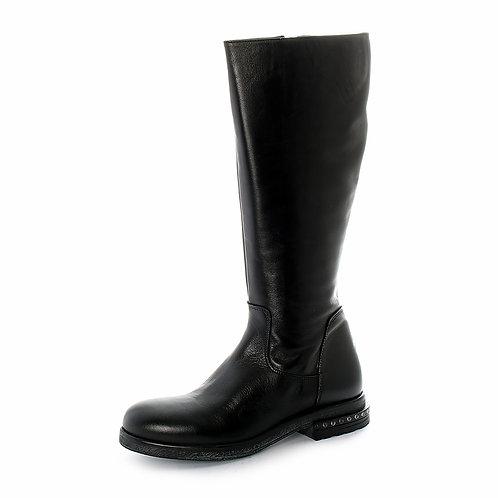 DADA – Stivali In Vera Pelle Con Tacco Decorato Con Borchie