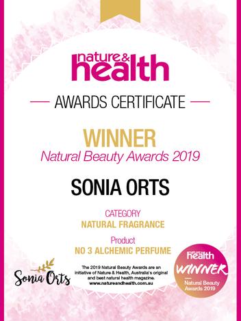 Sonia Orts 09776 NAH Winner Certificates