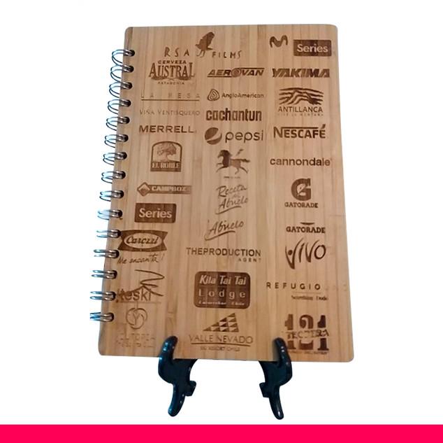 PG-8 Libretas tapa madera - bamboo