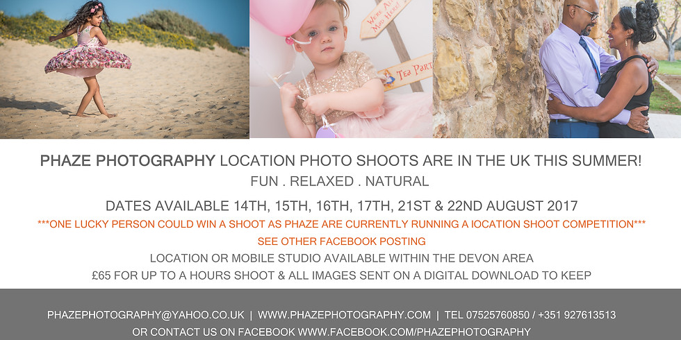 UK Location Photo Shoot