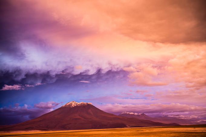 A mais bela luz dos Andes