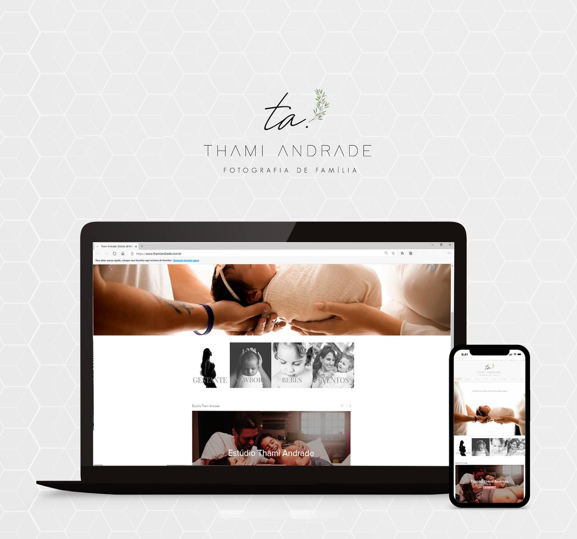 Site Estúdio Thami Andrade