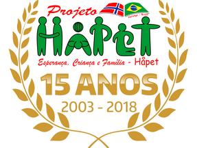 Colabore com as comemorações do aniversário de 15 anos do Håpet