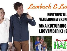 Jubileumskonsert for Håpet, barn og familie - Torsdag 1.november kl 19.30