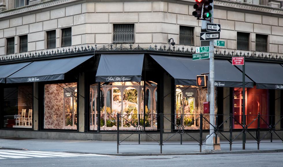 Saks 5th Ave Gucci Windows