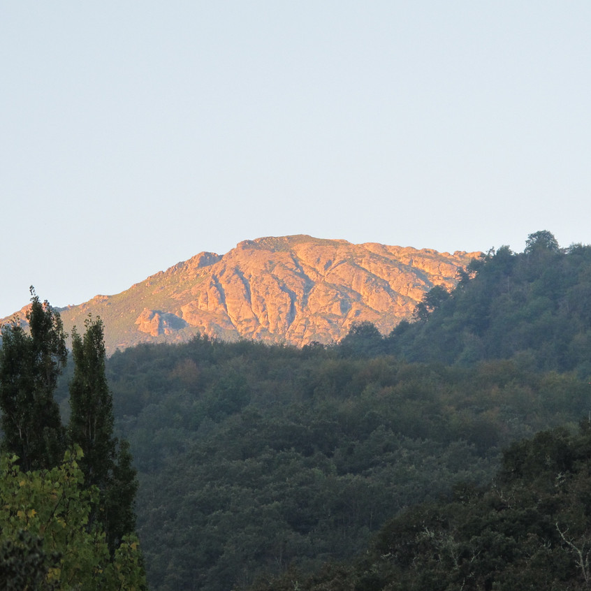 There are some wonderful hikes in the mountains behind Olmares - you can hike all day and not see a soul.