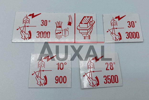 Sticker autocollant 205 309 GTI compartiment moteur allumage