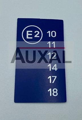 Sticker autocollant homologation 205 309 GTI E2 bleu