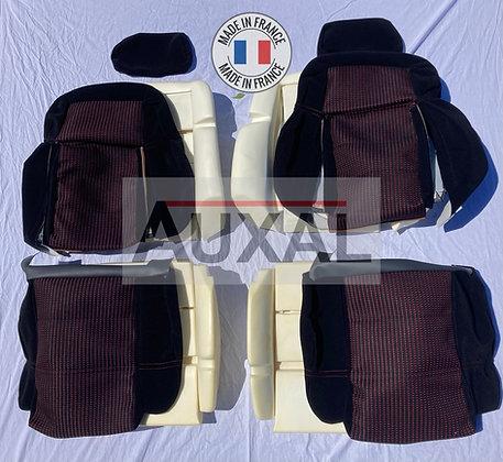 Pack complet interieur siege avant garniture 205 GTI QUARTET tissus seat cover