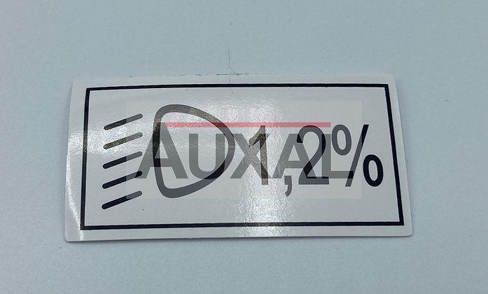 Sticker autocollant reglage phare 205 309 GTI - head light angle sticker