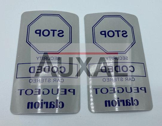 Sticker autocollant CLARION porte car stereo 205 309 GTI RALLYE  CTI  safety