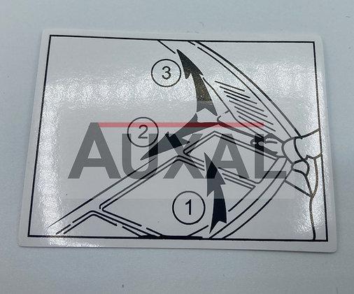 Sticker autocollant tablette plage arriere 205 GTI RALLYE  CTI  rear tray