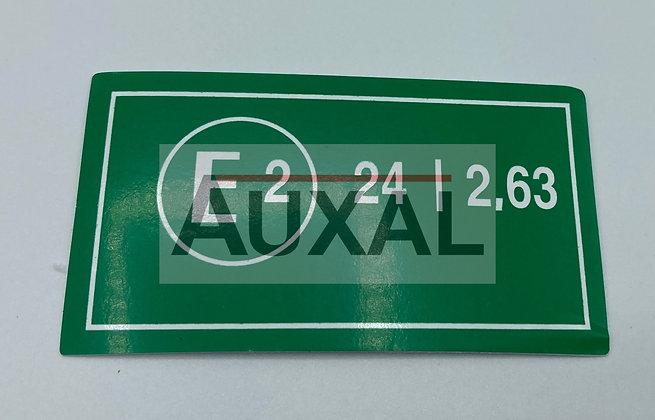 Sticker autocollant homologation 205 309 GTI E2 vert
