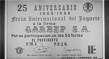 15th Anniversary of participation in the Feria International del Juguete (1962-1986)