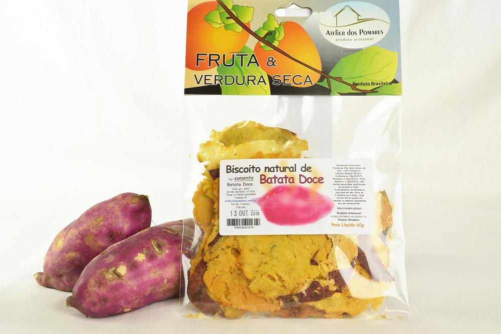 Biscoito natural de batata doce