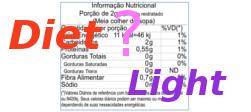 Diet, Light, sem Açúcar