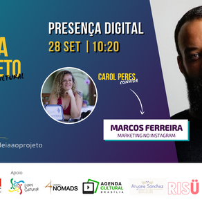 Presença digital é tema de estreia do canal IDEIA Prática, com Carol Peres e Marcos Ferreira