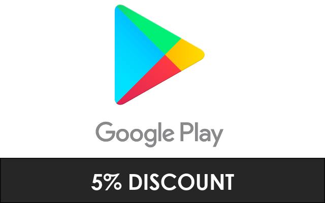 Google Play - 5% Discount