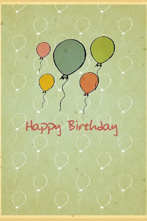 Geburtstagskarte - Luftballon