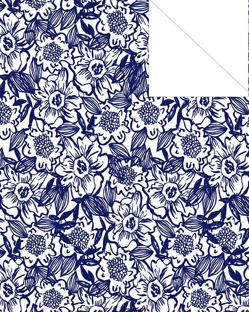 Indigo- floral 2