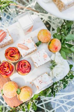Mini peach pie & Rice Krispie treats