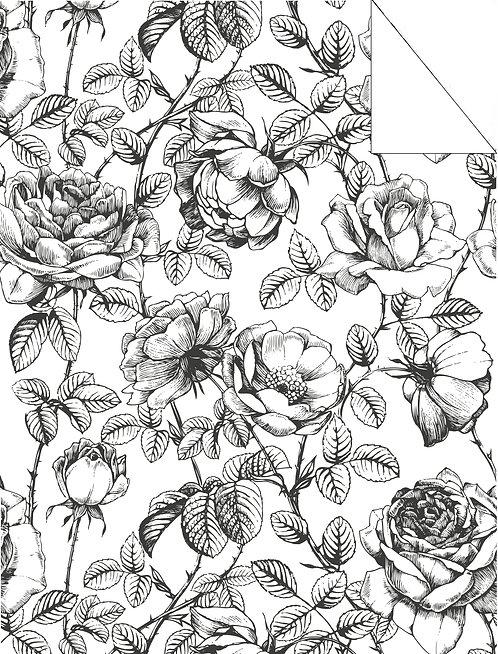 Floral- black & white