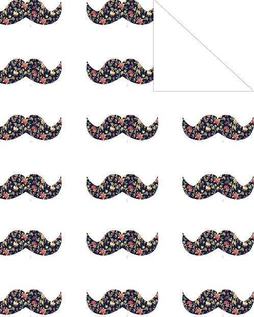Mustache- floral