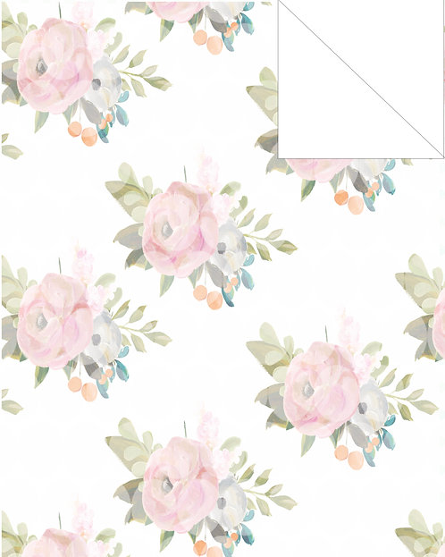 Muted floral- pale