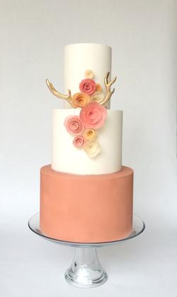 antler baby shower cake
