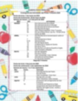 cronograma Anual de Actividades y Fechas