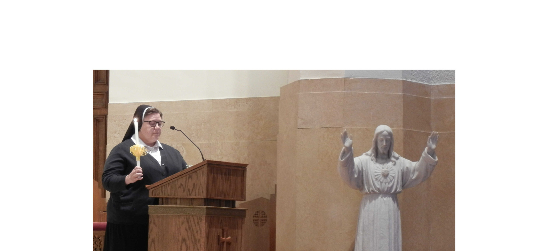 S. Carol leads the jubilarians in their renewal of vows
