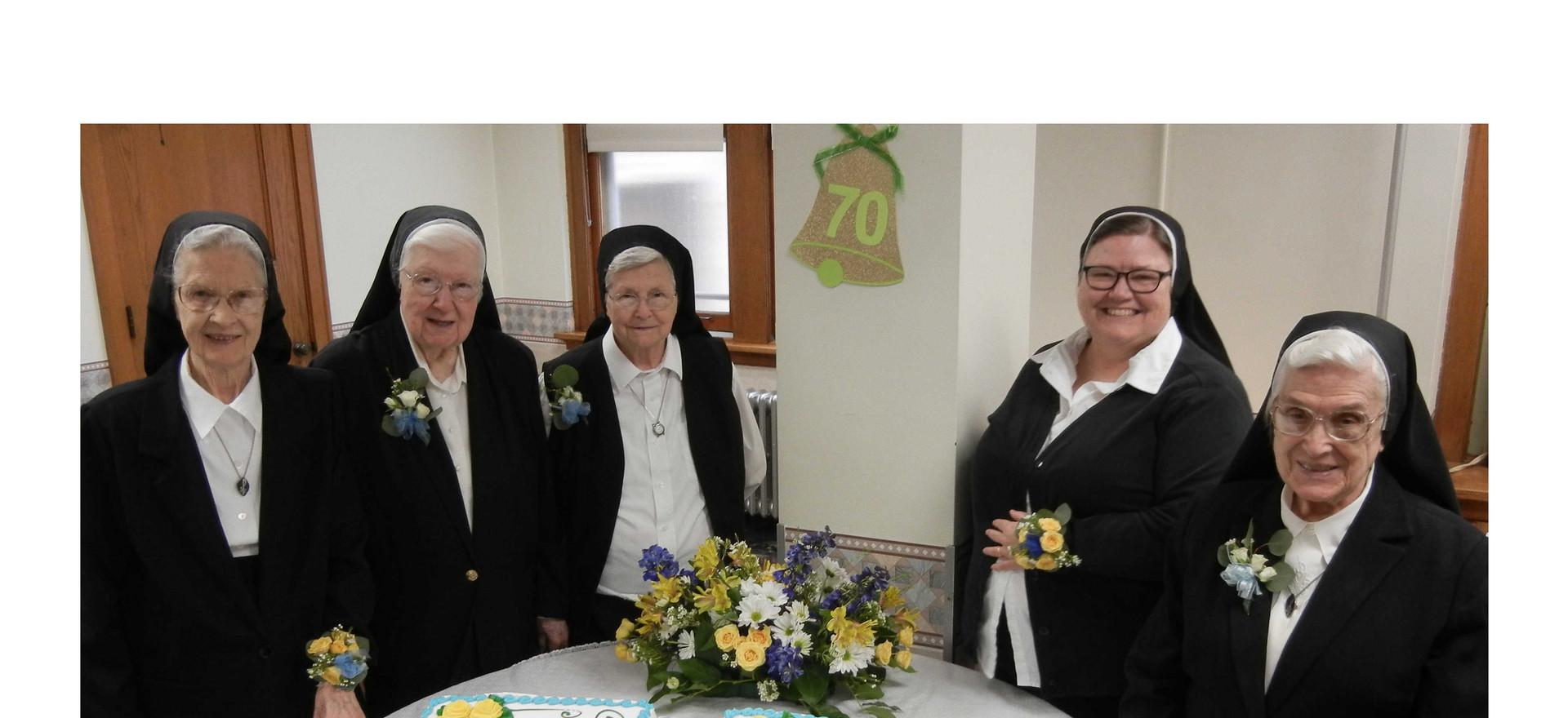 2109 Jubilarians: S. Alice Mary, S. Rosemary and S. Francetta - 70 years. S. Carol - 40 years; S. Pauline - 75 years