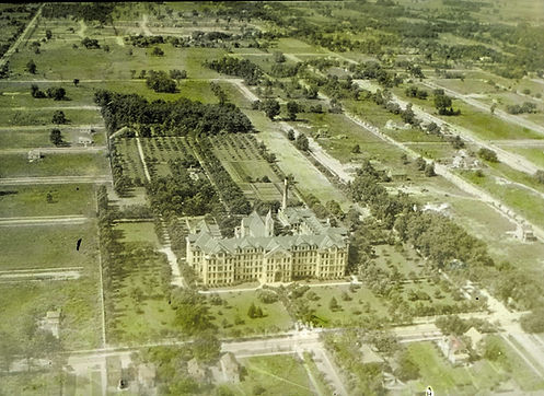 Wilmette motherhouse aerial view ca 1920